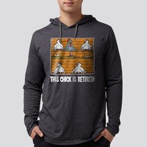 This Chick Is Retired Mens Hooded Shirt